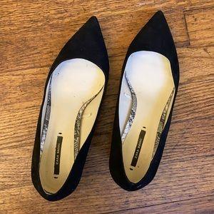 Like New Zara Basic Black Kitten Heels US 7.5 EU 38
